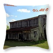 Ye Old Homestead Throw Pillow