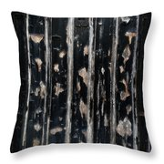 Ye Olde Black Door Throw Pillow