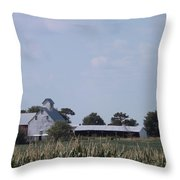 Ye Olde Farmstead Throw Pillow