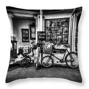 Ye Olde Sweet Shoppe Mono Throw Pillow