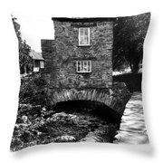 Ye Olde Toll Bridge Throw Pillow
