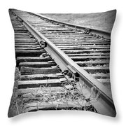 Ye Olde Tracks Throw Pillow
