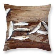 Yea It's Trout For Dinner Throw Pillow