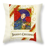 Year 1928 Vintage Greeting Card Throw Pillow