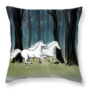 Year Of The Wood Horse Throw Pillow