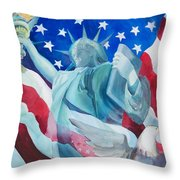 Yearning To Be Free Throw Pillow