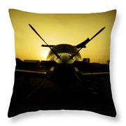 Yello Lady Throw Pillow