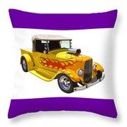Yellow 1928 Hotrod Pickup Truck  Throw Pillow