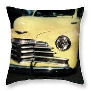 Yellow 47 Chevrolet Throw Pillow