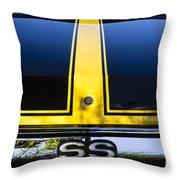 Yellow '71 Ss Throw Pillow