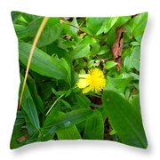 Yellow Accent Throw Pillow