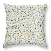 Yellow And Blue Dots Throw Pillow
