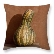 Yellow And Green Squash Throw Pillow