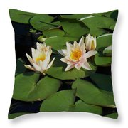 Yellow  And Pink Lily  Throw Pillow