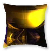 Yellow And Purple Contrast Throw Pillow