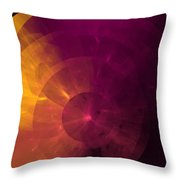 Yellow And Purple Umbrella Top Abstract  Throw Pillow