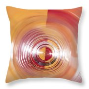 Yellow And Red Abstraction Throw Pillow