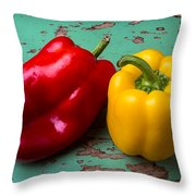 Yellow And Red Bell Pepper Throw Pillow