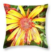 Floral Grunge Throw Pillow