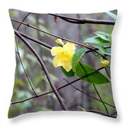 Yellow And The Odd Throw Pillow
