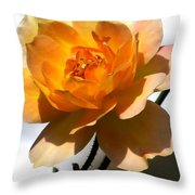 Yellow And White Rose Throw Pillow