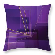 Yellow Angles Through Purple Landscape Throw Pillow