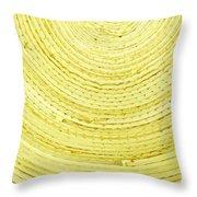 Yellow Arcs Throw Pillow