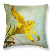 Yellow Asiatic Lilly Iv Throw Pillow
