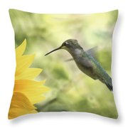 Yellow Attraction Throw Pillow