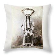 Yellow Badger 1880 Throw Pillow