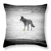 Yellow Ball Throw Pillow