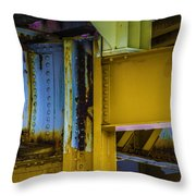 Yellow Beams Versiontwo Throw Pillow