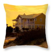 Yellow Beauty At Isle Of Palms Throw Pillow