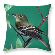 Yellow-bellied Flycatcher Throw Pillow