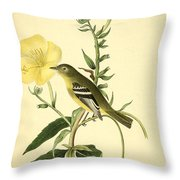 Yellow-bellied Flycatcher Throw Pillow by Philip Ralley