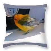Yellow Bird  Throw Pillow