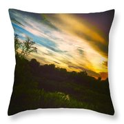 Yellow Blue And Green Throw Pillow by K Simmons Luna