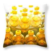 Yellow Bottle Throw Pillow