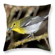 Yellow-breasted Vireo Throw Pillow