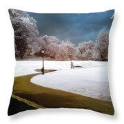 Yellow Brick Road Central Park Throw Pillow