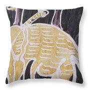 Yellow Brown Elephant In The Bush. Throw Pillow