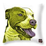 Yellow Bull Fractal Pop Art - 7773 - F - Wb Throw Pillow