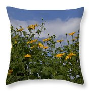 Yellow Buttons Throw Pillow