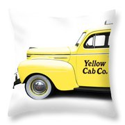 Yellow Cab Square Throw Pillow