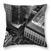 Yellow Cabs - Bird's Eye View Throw Pillow