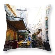 Yellow Cafe Arles France Throw Pillow