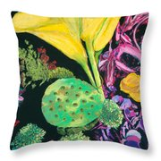 Yellow Cala Lilies Throw Pillow