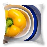 Yellow Capsicum Throw Pillow