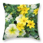 Yellow Cascade Throw Pillow