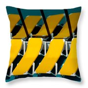 Yellow Chairs Reflected Throw Pillow by Amy Cicconi